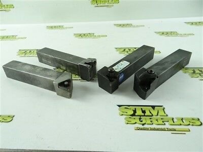 """Lot Of 4 Indexable Tool Holders 1"""" Shanks Carboloy Trw Seco Wesson"""