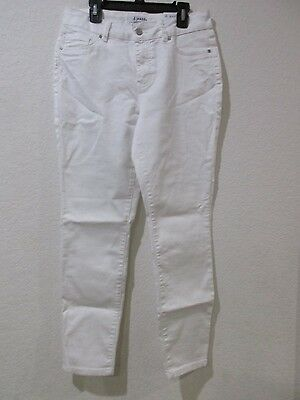 D.JEANS NEW YORK Womans Modern Fit High Waist ANKLE Pants Jeans WHITE All Size