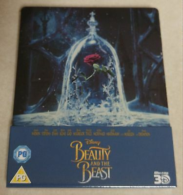 New Disney Beauty & the Beast (2017) 3D+2D Blu-ray Steelbook™ Zavvi Exclusive