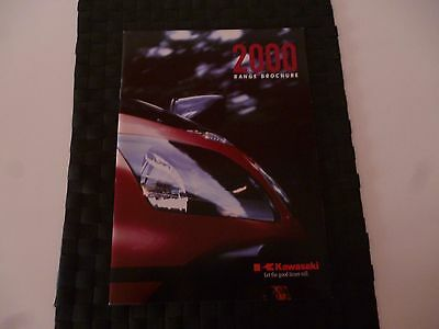 Kawasaki 2000 Range Brochure/catalogue Supersports,cruisers,trail *as Pictures*