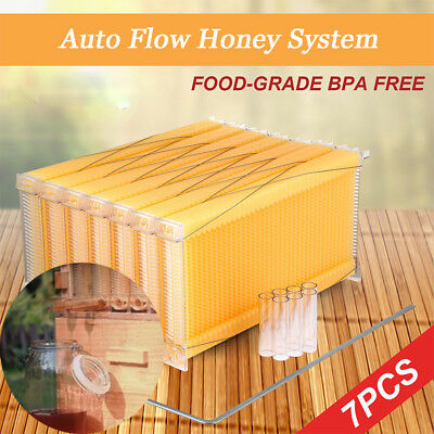 7 Newest Version Auto Directly Flow Honey System Beekeeping Hive Beehive Frames