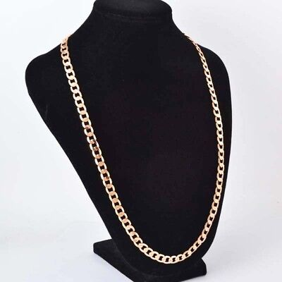 """Sparking 18K Yellow Gold Filled Men's Necklace Chain 24"""" length Free Ship"""