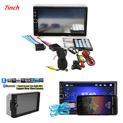 "7.0"" 2DIN Car Suv MP5 MP3 Player Bluetooth USB FM Stereo Radio Rear View Camera"