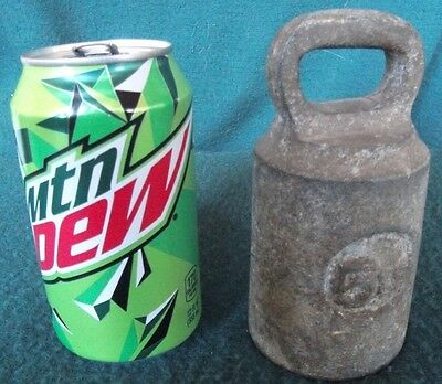 OLD bell weight Cast Iron Scale Hanging Counter Weight 5 Pounds