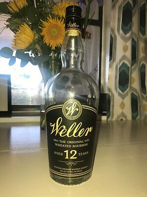 Weller 12 Year Yr Original Wheated Bourbon Whiskey Empty Bottle - 1 Liter