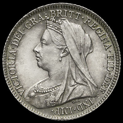 1901 Queen Victoria Veiled Head Silver Sixpence, AU
