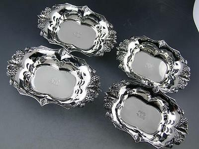4 Sterling TIFFANY & CO Nut / Bon Bon Dishes BLACKBERRY VINE