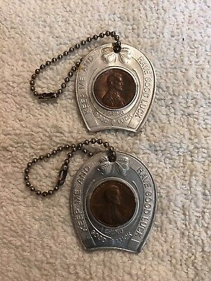 Vintage Encased Cent Lucky Penny Lot Mike Wildasin Valley Motors Hanover Pa