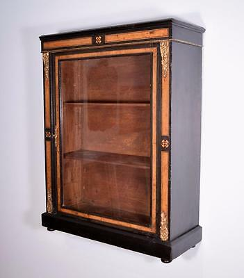Antique French Napoleon III/Second Empire Display Wall/Cabinet/Bookcase/Console