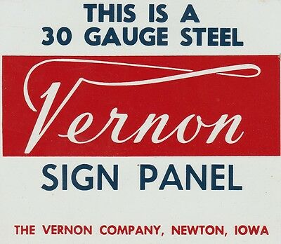 Vintage Double Sided salesman sample metal sign.Newton Iowa. New Oxford Pa.