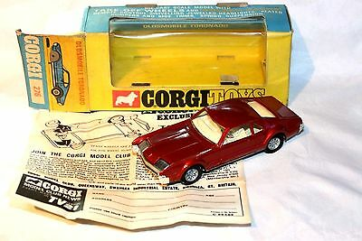 Corgi 276 Oldsmobile Toronado Mint in Original Box