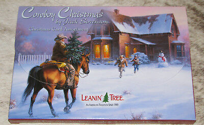LEANIN TREE Cowboy Christmas by Jack Sorenson Cards ~ 2 each of 10 designs ~