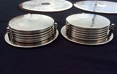 Fine Joblot Of Vintage Silver Plated Coasters & Place Mats