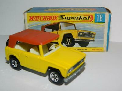 MATCHBOX SUPERFAST BOXED VINTAGE FIELD CAR No.18 MINT IN ORIGINAL G BOX 1970