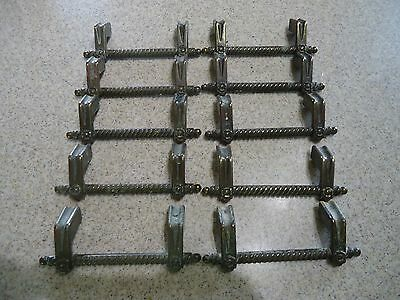 Lot  of 10 Vintage Ornate Brass Cabinet Drawer Pulls Handles Very Unique Style