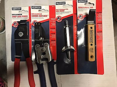 Midwest Tool Combo Notcher Snap Lock Punch Siding Removal Tool & Nail Driver Set