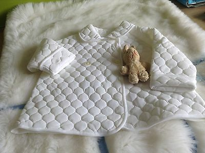 AUTHENTIC VINTAGE INFANT BABY CHILDRENS PRAM COAT 9/12 MONTHS 70s UNUSED