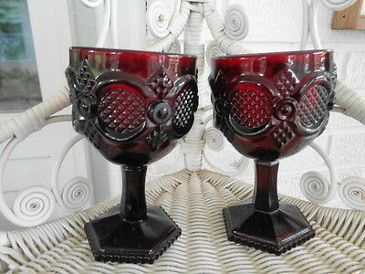 "Cape Cod  Avon Goblets  6""  Set Of Two"