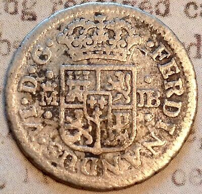 the rare 1752 SILVER Pirate Coin Reale Christian Cross ? Spanish Antique Art