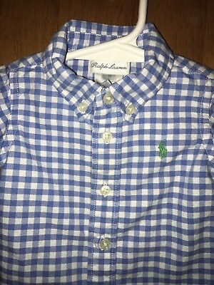 Mint Boys Size 3 Months Baby Ralph Lauren Polo Shirt Long Sleeve 3 M Newborn