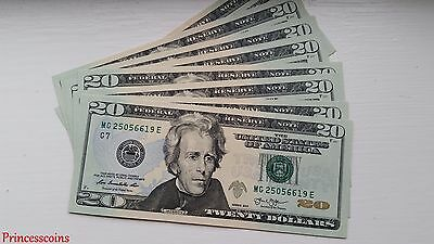 Uncirculated Us Dollar*series Of $20 Twenty Dollar Bill Unc
