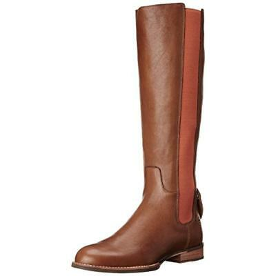Ariat 0734 Womens Waverly Brown Leather Riding Boots Shoes 9 Medium (B,M) BHFO