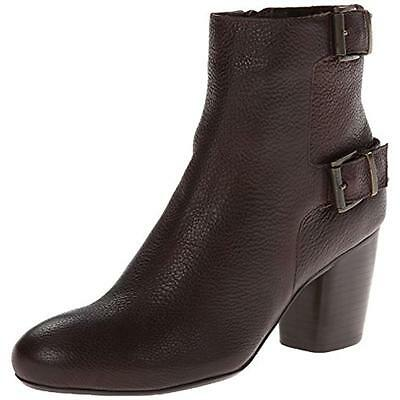 VANELi 3376 Womens Folly Brown Leather Ankle Boots Shoes 8 Medium (B,M) BHFO
