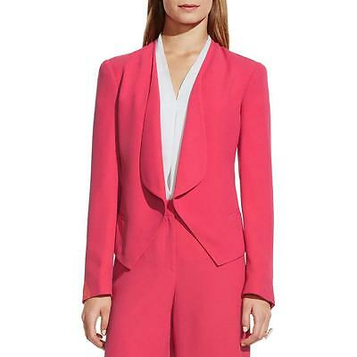Vince Camuto 6705 Womens Pink Crepe Drapey Open-Front Blazer Jacket 10 BHFO