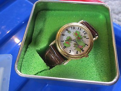 Kermit the Frog watch New in box needs battery braided band Muppets retired