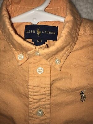Mint Boys Size 12 Months Baby Ralph Lauren Polo Shirt Long Sleeve 12 M
