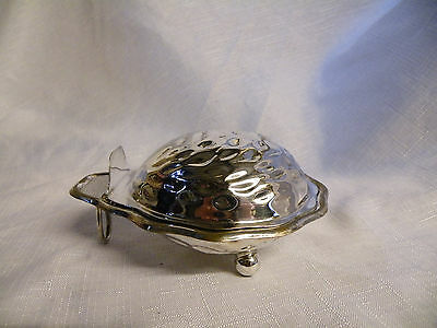 Vintage Silver Plated Shell Shaped Dish For Butter/caviar