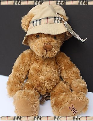 Burberry Fragrances Plush Toy  Huggable Teddy Bear Nova Check Hat Tan W Tags