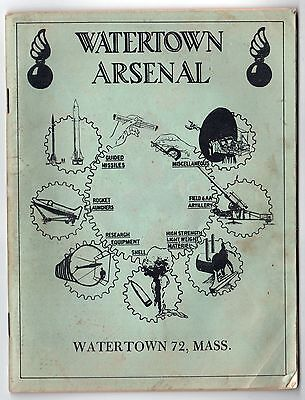RARE WATERTOWN ARSENAL History 1950s ORDNANCE CORPS Weapons US ARMY Mass MA