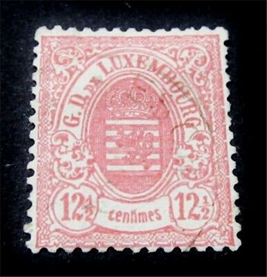 nystamps Luxembourg Stamp # 44 Used $225
