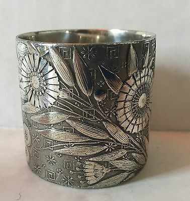 Victorian Silverplated Napkin Ring Holder  Aesthetic Design