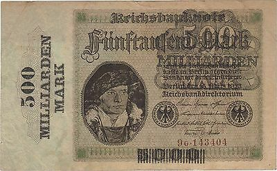 1923 500 Billion Mark Germany Currency Reichsbanknote German Banknote Note Bill