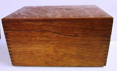 Excellent Vintage Solid Oak Dovetailed File Box from Western Pa. Company