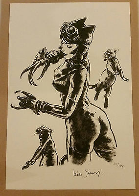 Catwoman Print by Kim Jung Gi Signed & Numbered 20x30 cm - 149 copies Limited