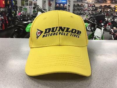 Dunlop Motorcycle Tires Embroidered Adjustable Hat Yellow