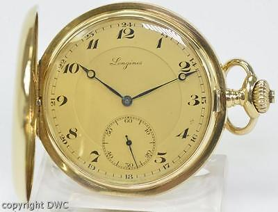 Taschenuhr Pocketwatch LONGINES in aus 18 Kt. 750 Gold um 1900 antik