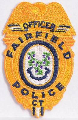 Fairfield CT Police Department Embroidered Patch Law Enforcement Officer LEO
