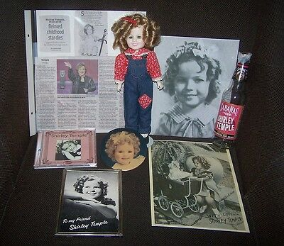 Price Reduced  Shirley Temple Items: Doll Rebecca,  Magnet,  Bottle, Cd,  Photos