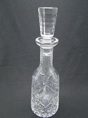 Waterford Clear Cut Crystal Shannon Jubilee Decanter & Stopper 13in