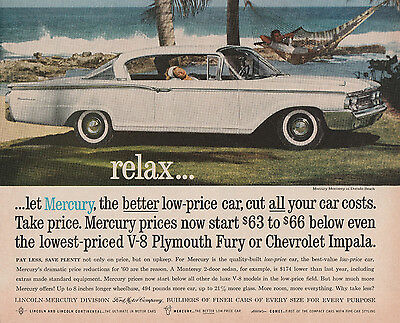 ad from LIFE magazine dated May 16, 1960  -  Mercury  -  white two door hardtop