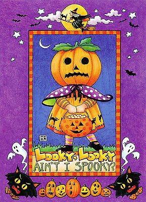 Mary Engelbreit-LOOKY AIN'T I SPOOKY?-Halloween Greeting Card w/Envelope-NEW