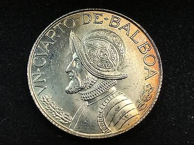 T2: World Coin Panama 1962 1/4 Balboa BU