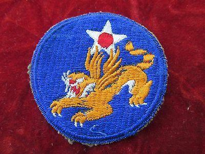 14th US Army Air Force Patch CBI Flying Tigers # 2 Rare white eye variety