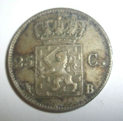 Antique Coin Netherlands 1826 25 Cents