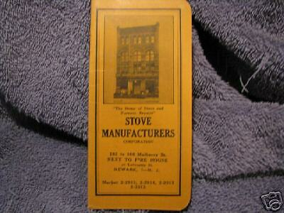 Vintage 1943 STOVE MANUFACTURES CORP Booklet