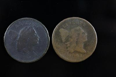 Rare Lot Of 1794 & 1795 Liberty Cap Half Cents Not Cleaned Free Shipping In Usa